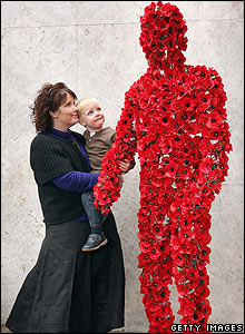 A war widow at the launch of this year's Poppy Appeal in London