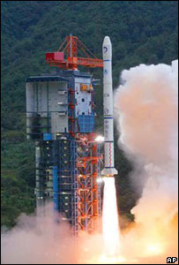 Chinese rocket taking off in Xichang