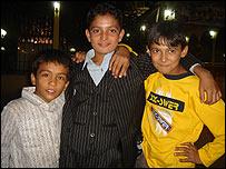 Boys at a wedding in Mazar-e-Sharif