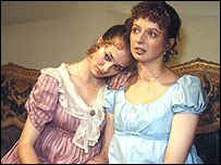 Marianne (L) and her sister Elinor (R) in the BBC's 1981 production of Sense And Sensibility