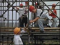 Scaffolding workers