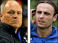 Tottenham boss Martin Jol and striker Dimitar Berbatov
