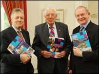 Peter Robinson, Ian Paisley and Martin McGuinness