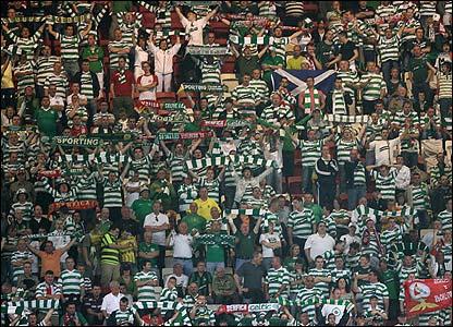 Celtic's travelling fans provide some fervent support