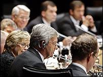 Nato defence ministers in Noordwijk
