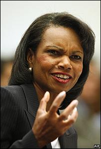 وزيرة الخارجية الامريكية كوندوليزا رايس