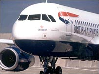 GB Airways plane in BA livery