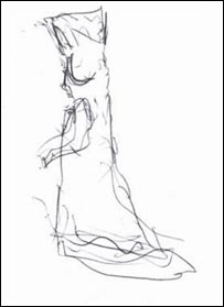 A sketch of 'Emily' by a Pavilion worker (Image: Bournemouth Borough Council)