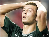 Celtic's Massimo Donati cannot believe the events in Lisbon