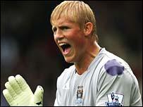 Manchester City goalkeeper Kasper Schmeichel