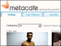 Metacafe home page, Metacafe