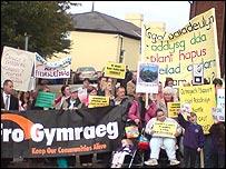 Gwynedd school protesters