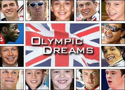 Pictures of the 2012 Olympic hopefuls being featured in the BBC's Olympic Dreams documentary