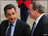 President Sarkozy (left) with Nobel prizewinner and ex-US Vice President Al Gore