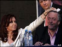 Cristina Fernandez de Kirchner and Nestor Kirchner