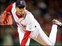 Boston Red Sox pitcher Hideki Okajima