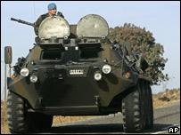 Turkish armoured personnel carrier near the Turkey-Iraq border (25 Oct)