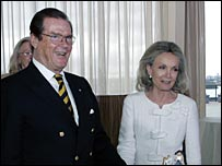 Sir Roger Moore and his wife Kristina