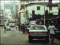 Street scene in Freetown