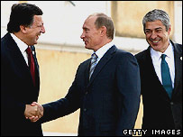 Vladimir Putin meets EU leaders