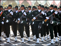 IRGC troops parade on Quds Day in Tehran
