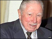 Gen Augusto Pinochet (file photo)