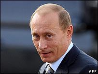 Vladimir Putin at the EU summit in Portugal