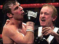 Joe Calzaghe and Enzo Calzaghe
