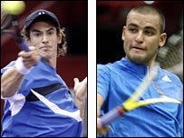 Andy Murray (left) and Mikhail Youzhny