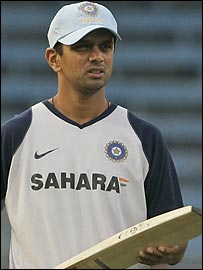 Rahul Dravid has been omitted for only the second time in his one-day career
