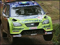 Hirvonen in action on day two