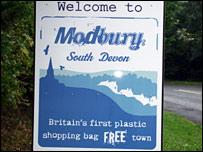 Modbury sign