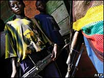 Mai Mai child soldiers. File pic.