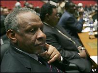 Nafie Ali Nafie, l�der de la delegaci�n del gobierno de Sud�n a la conferencia en Libia. - 27/10/2007