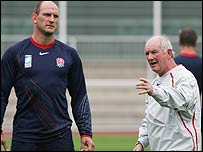 Lawrence Dallaglio and Brian Ashton