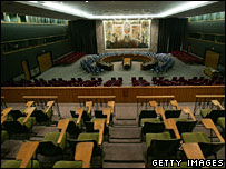 Interior showing Security Council chamber 2006