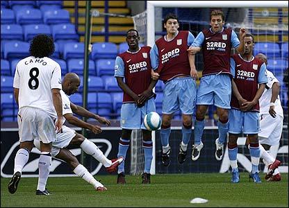 Nicolas Anelka gives Bolton the lead with a superb free-kick