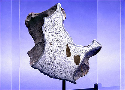 Crown Section of Willamette Meteorite (image courtesy of Bonhams)