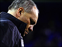 Martin Jol during Tottenham's game against Getafe