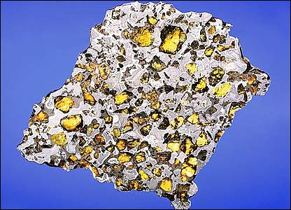 A slice of the Glorieta Mountain Meteorite (image courtesy of Bonhams)
