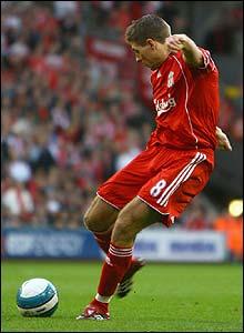 Steven Gerrard scores the opener