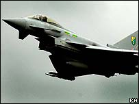 Typhoon fighter jet