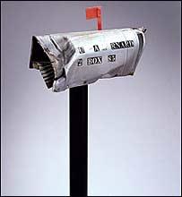 Buz�n postal de Estados Unidos golpeado en 1984 por un meteorito