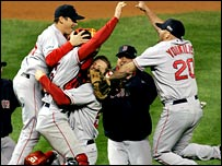 Boston Red Sox celebrate