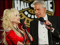 Dolly Parton and Porter Wagoner performing in 2003