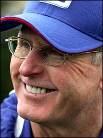 NY Giants head coach Tom Coughlin.