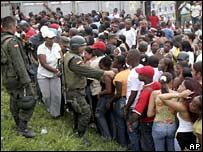 Voters line up to cast ballots in Buenaventura