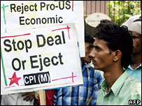 A Communist party protest against the nuclear deal