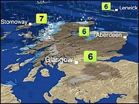 BBC Weather Map