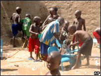 Children playing in an orphanage at Abeche, Chad